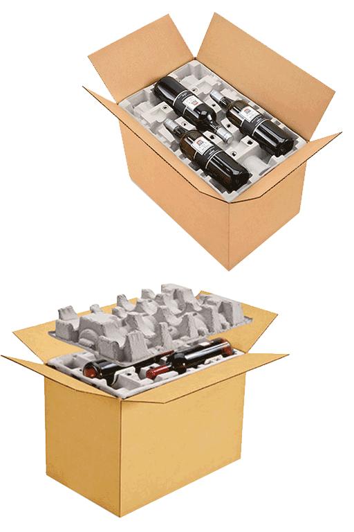 Crushed Cardboard Layers & Box
